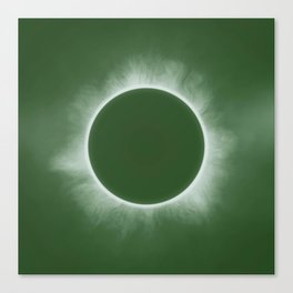 Solar Eclipse in Forest Color Canvas Print
