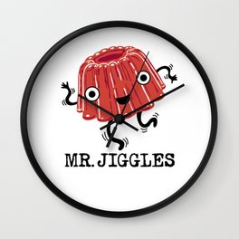 Mr Jiggles - jello Wall Clock