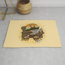 The Dad Burger Rug