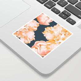 Peach Colored Flowers Dark Background #decor #society6 #buyart Sticker
