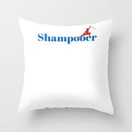 Top Shampooer Throw Pillow