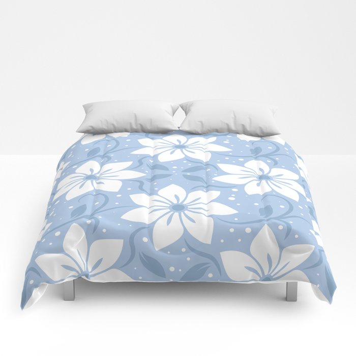 Magical Blue Flower Pattern Comforters