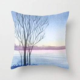 Winter scenery #4 Throw Pillow