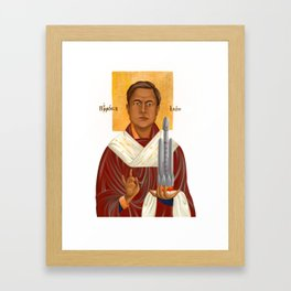 Holy Prophet Elon Musk isolated Framed Art Print