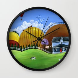 Hilly Heights Wall Clock