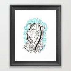 Cat Lady No. 1 Framed Art Print