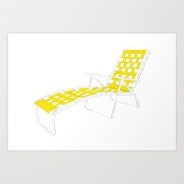 Deck Chair Art Print