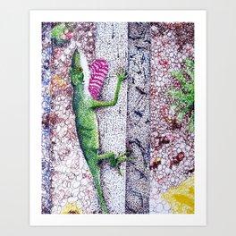 Lizard Friend Art Print
