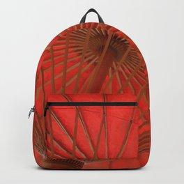 Big Asia Umbrella Red Colors Backpack