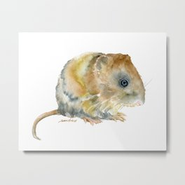 Vole Watercolor Metal Print