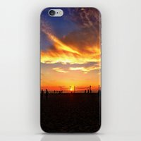 "volleyball iPhone & iPod Skins featuring Hermosa Beach ""Volleyball"" by Arturo Garcia"