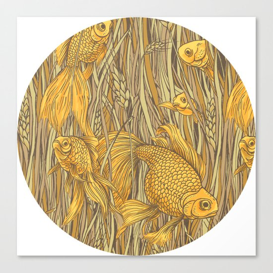 Goldfishes in the Rye Canvas Print