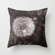 Big Bang (Cosmic Dandelion) Digital Photo Composition Throw Pillow