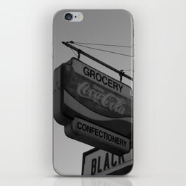 Black and White Grocery 2 iPhone Skin