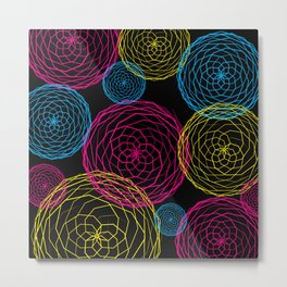 Spiro Blooms in Noir Metal Print