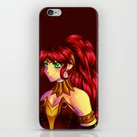 rwby iPhone & iPod Skins featuring The Champion by nerdgasmz