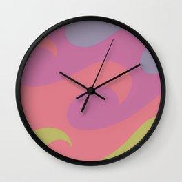 Pastel waves  Wall Clock