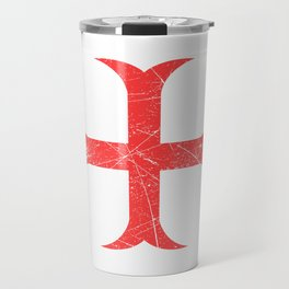 Red Cross Castle Lover Great gift idea for every knight and Fairy tale fan for birthday T-shirt Travel Mug