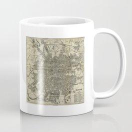 1893 Historic Map of Moscow Coffee Mug