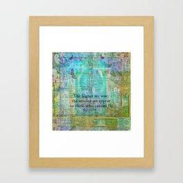 Nietzsche inspirational SOAR quote Framed Art Print