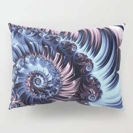 Purple Spiral Abstracts Pillow Sham