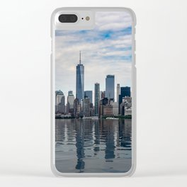 Dramatic skyline of New York City Clear iPhone Case