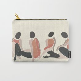Woman Forms Carry-All Pouch