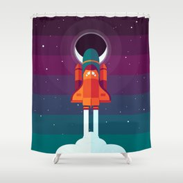 Into Spaaaace Shower Curtain