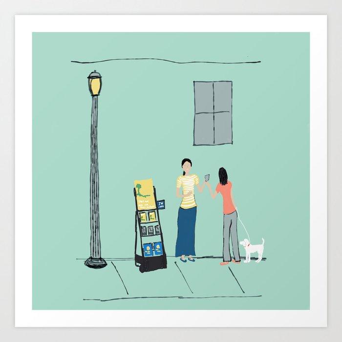 At the Cart Art Print