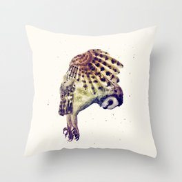 Flying Owl II Throw Pillow