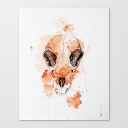 watercolor skull #3 Canvas Print