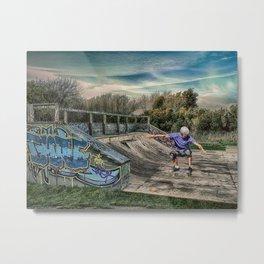 Skate Park Metal Print