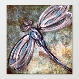 Rustic Dragonfly Art Canvas Print