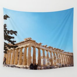 The Parthenon, Acropolis of Athens, Greece photography, ancient Greek Wall Tapestry