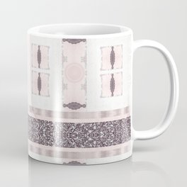 Silver Antique Details over Marble Design Coffee Mug