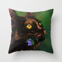 Catmint Throw Pillow