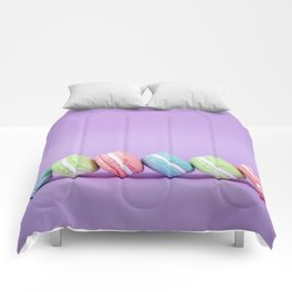 Row of Macaron Cookies Comforters