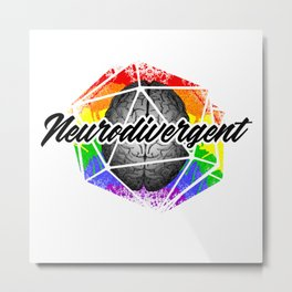 D20 Neurodivergent Metal Print