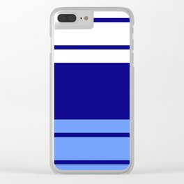TEAM COLORS 9.... Light blue , navy Clear iPhone Case