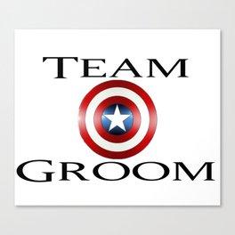 Capt America Team Groom Canvas Print