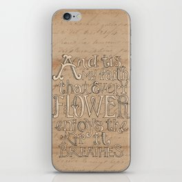 A Flower Breathes iPhone Skin