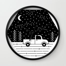 Happiness on a Dirt Road Wall Clock