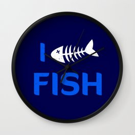 I heart Fish Wall Clock
