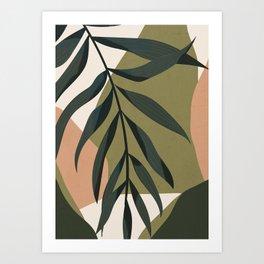 Tropical Leaf- Abstract Art Art Print