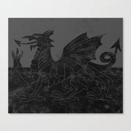 Black Wales Flag Canvas Print