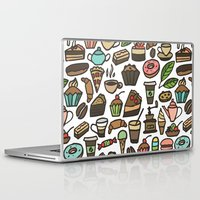 macaroon Laptop & iPad Skins featuring Coffee and pastry. by Julia Badeeva