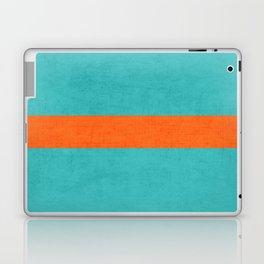aqua and orange classic Laptop & iPad Skin