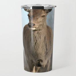 Wild Red Deer Travel Mug