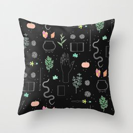 Witch Starter Kit: Potion - Illustration Throw Pillow