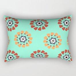 Modern Colorful Flowers Rectangular Pillow